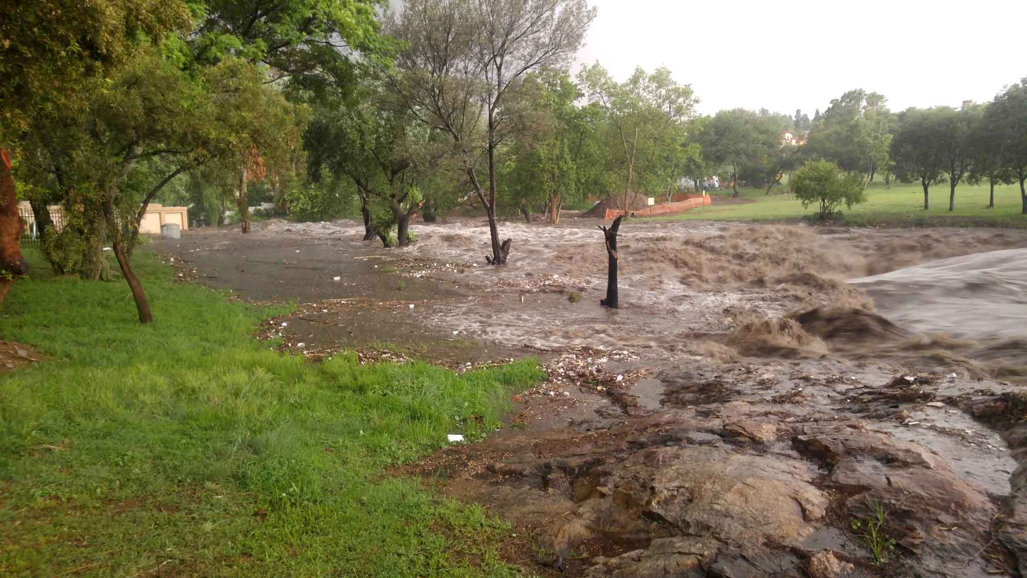Sandspruit in flood